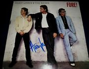 Huey Lewis And The News Signed Record Titled Fore Wow L@@k Proof Legendary