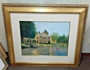Gary Collins Reflections Of La Caille Utah Original Signed Landscape Watercolor