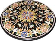 42 Round Marble Table Top Pietra Dura Lapis Inlay Handmade Work Decor