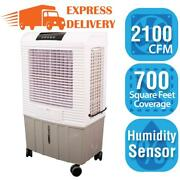 Hessaire Portable Evaporative Cooler 115-volt Programmable Timer 3-speed Gray