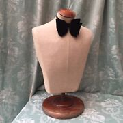 Antique French Siegel Stockman Male Torso Bust Display Mannequin Taylor Dummy