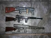 Vintage Toys Rare Lot Rifle Tin Operated Battery Made In Japan