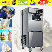 20l/h Commercial 3 Flavors Ice Cream Machine Steel Automatic Usa Shipment