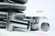 5.5 316ti Flexible Chimney Liner Kit W/ Tee Appliance Connector Or Insulation