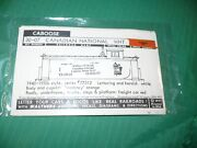 Walthers Decals O Scale 30-07 Canadian National Caboose White