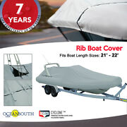 Oceansouth Outboard Rigid Hull Inflatable Boat Cover L 21and039 - 22and039 W 6and039