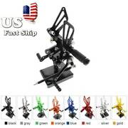 Cnc Fit Cbr600rr 954rr Yzf R1 R6 Zx10r Zx6r Rearsets Footpegs Foot Rest Pedals