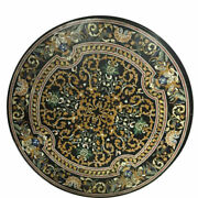 48 Marble Coffee / Dining Pietra Dura Floral Table Top Inlay Art Work