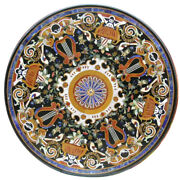 42 Marble Coffee Table Top Pietra Dura Floral Inlay Work Home Decor