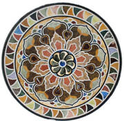 48 Round Marble Table Top Precious Stones Marquetry Art Home Decor