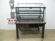 Marco 48 Glass Door Wood Bakery Donut Muffin Bagel Bread Display Show Case 4and039