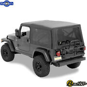 2004-2006 Jeep Wrangler Unlimited Incl Tinted Windows Supertop Soft Top - Black