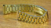 President Style Gold Tone 16mm-22mm Stainless Steel Metal Watch Bracelet -new