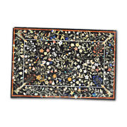 52 X 36 Marble Dining Table Top Pietra Dura Floral Inlay Work Home Room Decor
