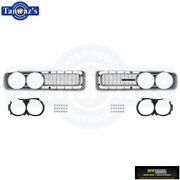 1971 Charger Front Grill Grille Set - Silver - Charger R/t - Super Bee Oer New