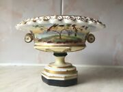 Swansea Porcelain Very Rare Tazza - Birds Perched In Trees Floret Border C1820