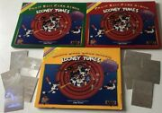 1990 Upper Deck Looney Tunes 3 Comic Ball Card Albums Mlb Baseball Trading Cards