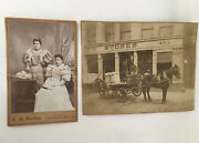 2 Antique Photo Advertisement George N Tower Bonded And Free Warehouse