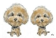 Personalised Caricature Of Two Pets From Photo Get Your Wonderful Gifts