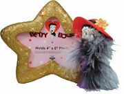 Red Hat Betty Boop Gold Glittered Star Shaped 4x6 Picture Photo Frame New
