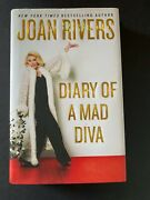 Diary Of A Mad Diva, By Joan Rivers - 2014 - Signed 1st Ed, 1st Prtg, Hc Book Dj