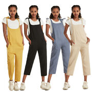 Fashion Women Casual Jumpsuits Romper Ladies Summer Wide Legged Strap Trousers