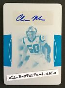 2019 National Treasures Christian Miller Printing Plate 1/1 Panthers Rc Auto 155