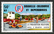 New Caledonia C137, Mnh. Road Safety. Training Children In Toy Cars, 1977