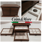 Small Money Chest Medals Table 4 Drawer In Real Velvet Binder For Coin