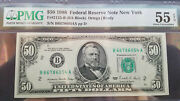 1988 50 Federal Reserve Note Fr2123-b Pmg 55 Epq About Uncirculated
