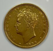 1825 George Iv Bare Bust Uk British Gold Sovereign In Vf/xf Condition