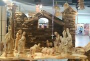 Unique Hand Carved Olive Wood Nativity Set--from Bethlehem--rare