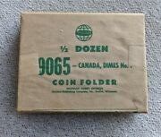 X Rare 6 Whitman New Sealed In Original Packing Canada Dime Coin Books  9064
