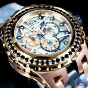 Reserve Jt Subaqua Specialty 5ctw Black Spinel Rose Gold 52mm Watch New