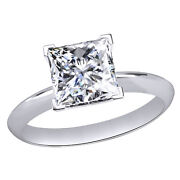 Diamond Solitaire Engagement Wedding Ring 14k White Gold 1.00 Ct