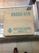 Mcdonalds Boston Red Sox 2004 Sheet Case 3 World Series Cards Serial Numbered