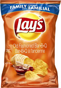 6 Bags Lays Old Fashioned Bbq Chips Large Family Size 255g Canada Fresh