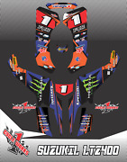 Suzuki Kfx400 Z400 Ltz Quadracer Semi Custom Graphics Kit Bipolar Royal5