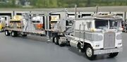 1/64 Dcp K100 Kenworth Silver/white And Crane Fitted To Trailer New 60-0696