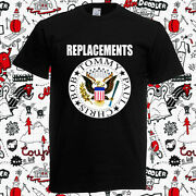 The Replacements Logo Menand039s Black T-shirt Size S-3xl