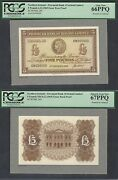 Northern Ireland 5 Pounds 6-12-1965 P244 Essay Face And Back Proof Uncirculated
