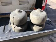 """Large Pair C1860/70 Wooden Finials Architectural Salvage Gems 10"""" H X 7.5"""" Dia"""