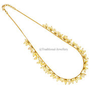 22k Gold Pearl Beads Bead Chain Necklace For Women Jewelry Gift Custom Size