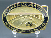 New River Black Gold Company Banking And Trust Coal Mining Vintage Belt Buckle