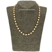 22kt Gold Southsea Pearls Chain Women Necklace Chain Custom Size Available 22