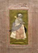 Antique Islamic 18 - 19th Century Mughal India Miniature Painting And Calligraphy