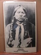 Vint Blk And White Indian Poster Kwaina Quanah Parker Comanche 1839-1911 Ing3195