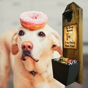 Dog Beers - Wall Mounted Bottle Opener And Cap Catcher - 100 Solid Pine