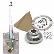 11 Transmission Mount Emergency Hand Brake With Tan Boot Silver Ring And Cap