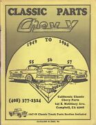 1949 To 1964 Classic Parts Chevy Catalog 4 Dec. And03982